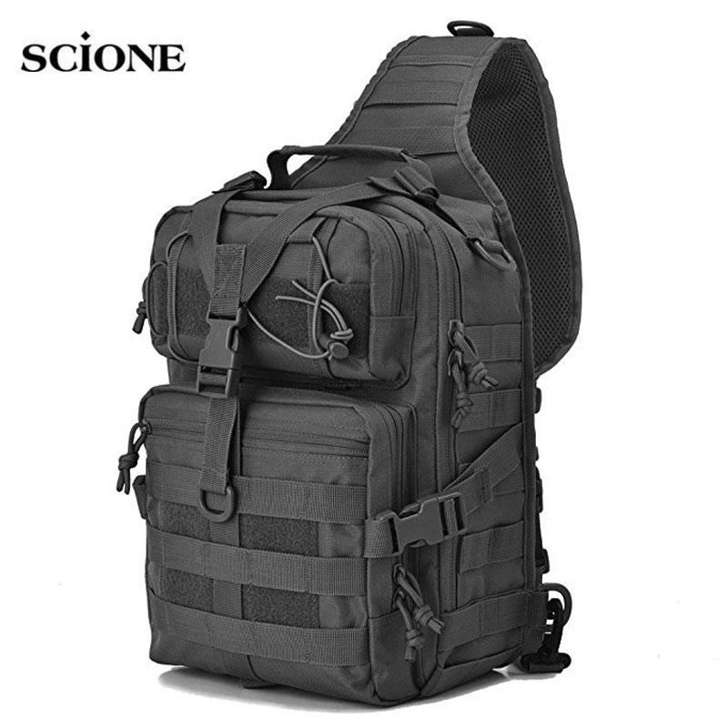 Mochila de asalto táctica 20L, mochila militar con eslinga, mochila EDC impermeable del ejército, mochila para senderismo al aire libre, Camping, caza XA1A