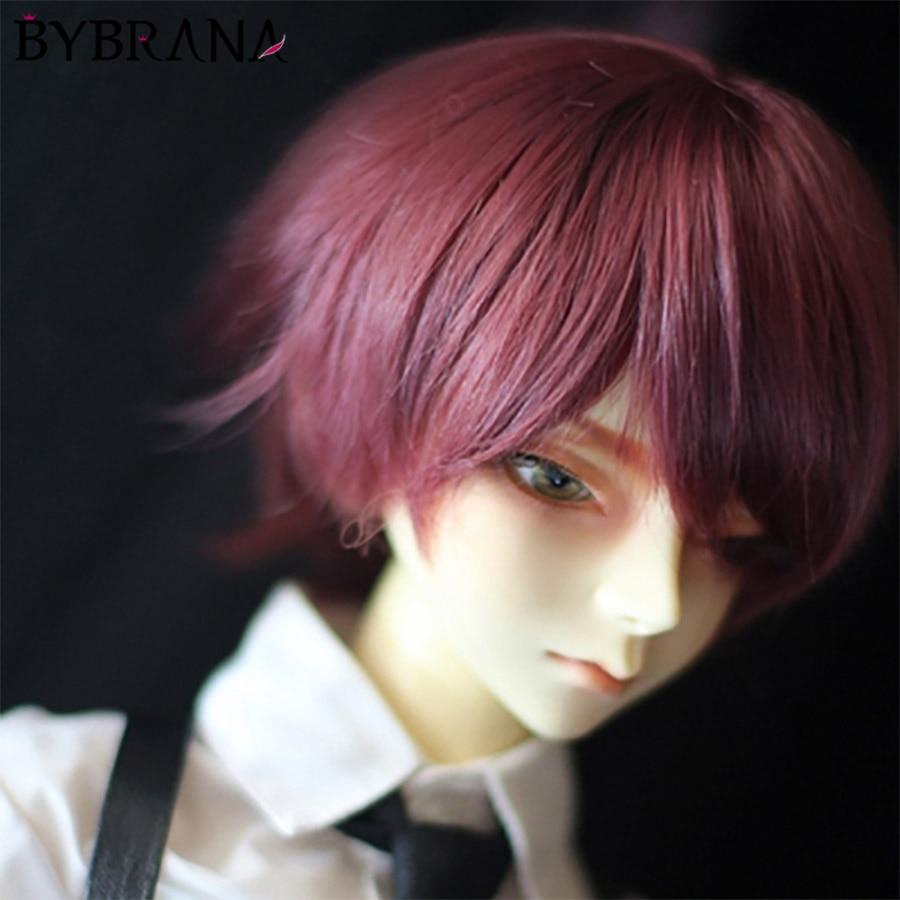 BybranaBjd Wig Boys Short Straight Hair Doll 1/3 1/4 1/6 Free Shopping