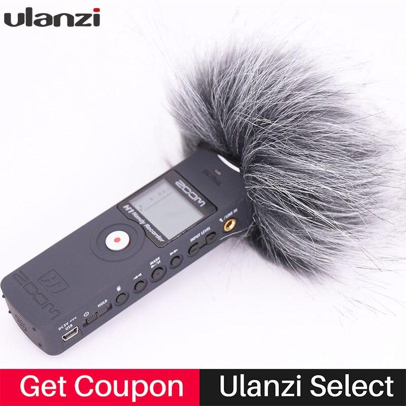 Ulanzi ao ar livre pára-brisas deadcat para zoom h1 handy recorder windshield muff para zoom h1n microfone