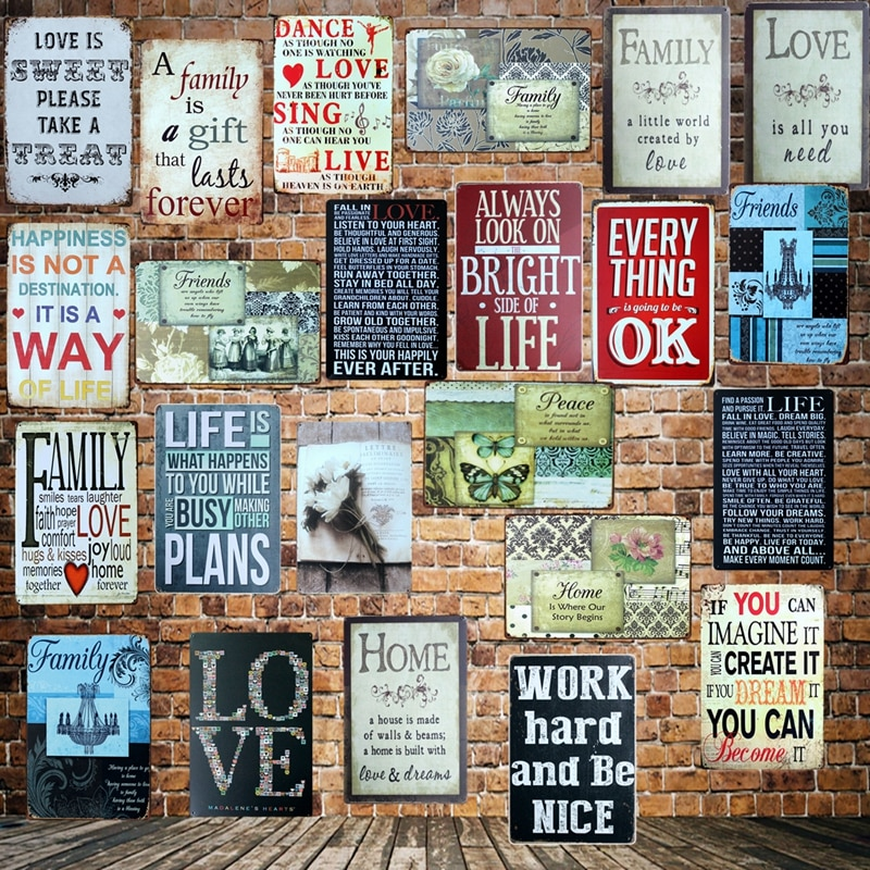 [ Mike86 ] Famous  Poem Home Love Family happiness Metal Sign Wall Plaque Poster Custom Painting Room Romantic Decor Art LT-1692