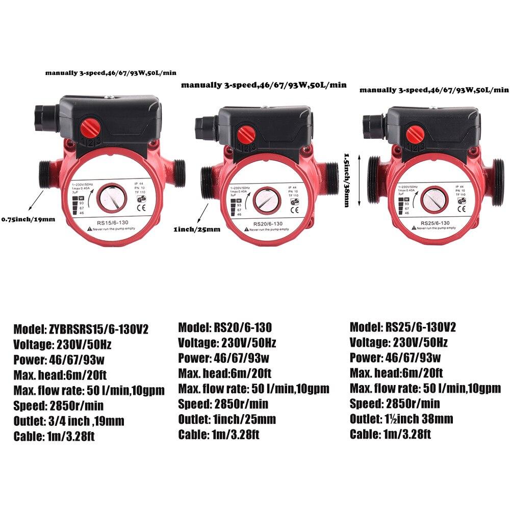 SHYLIYU aspersor para el hogar calentador de presión/bomba de refuerzo de calor 3 velocidades agua caliente ducha escudo Mini bomba de circulación automática