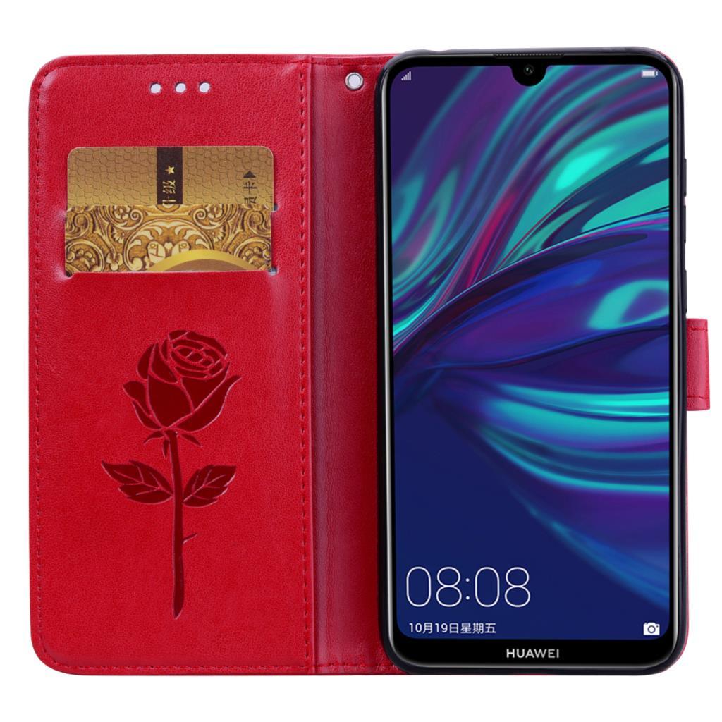 Funda de cuero con tapa para Huawei Y7 2019, carcasa para Y7...