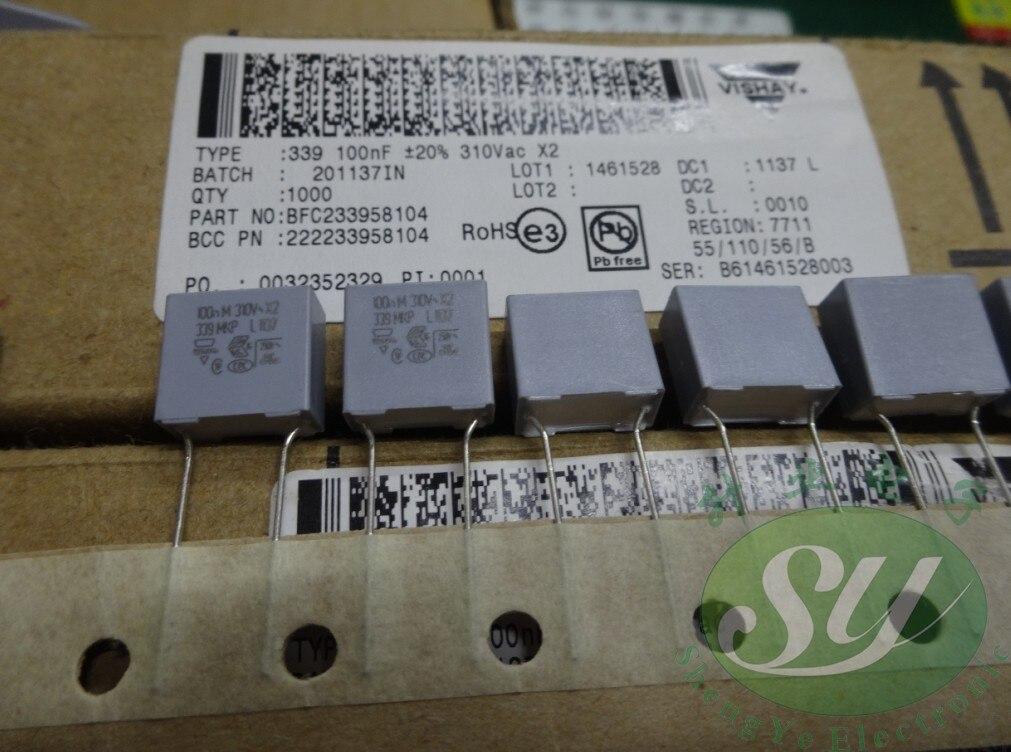 2019 venda quente 20 pçs/50 pçs vishay mkp339 0.1uf/310vac 100nf u1 104 filme capacitor bfc233958104 frete grátis
