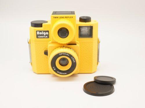 HOLGA 120TLR/120 Gêmeo Lens Reflex TLR Lomo Filme de Médio Formato Amarelo novo