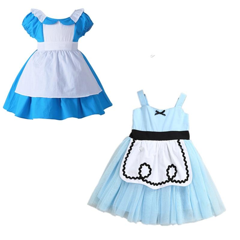 Bebé niña Alice disfraces vestido de princesa niños vacaciones prendas de vestir