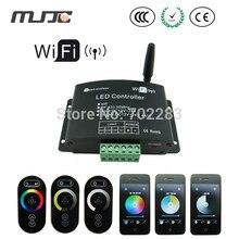 Wifi led rgb 원격 컨트롤러 12 v 24 v rf led 조 광 기 2.4g rgb 컨트롤러