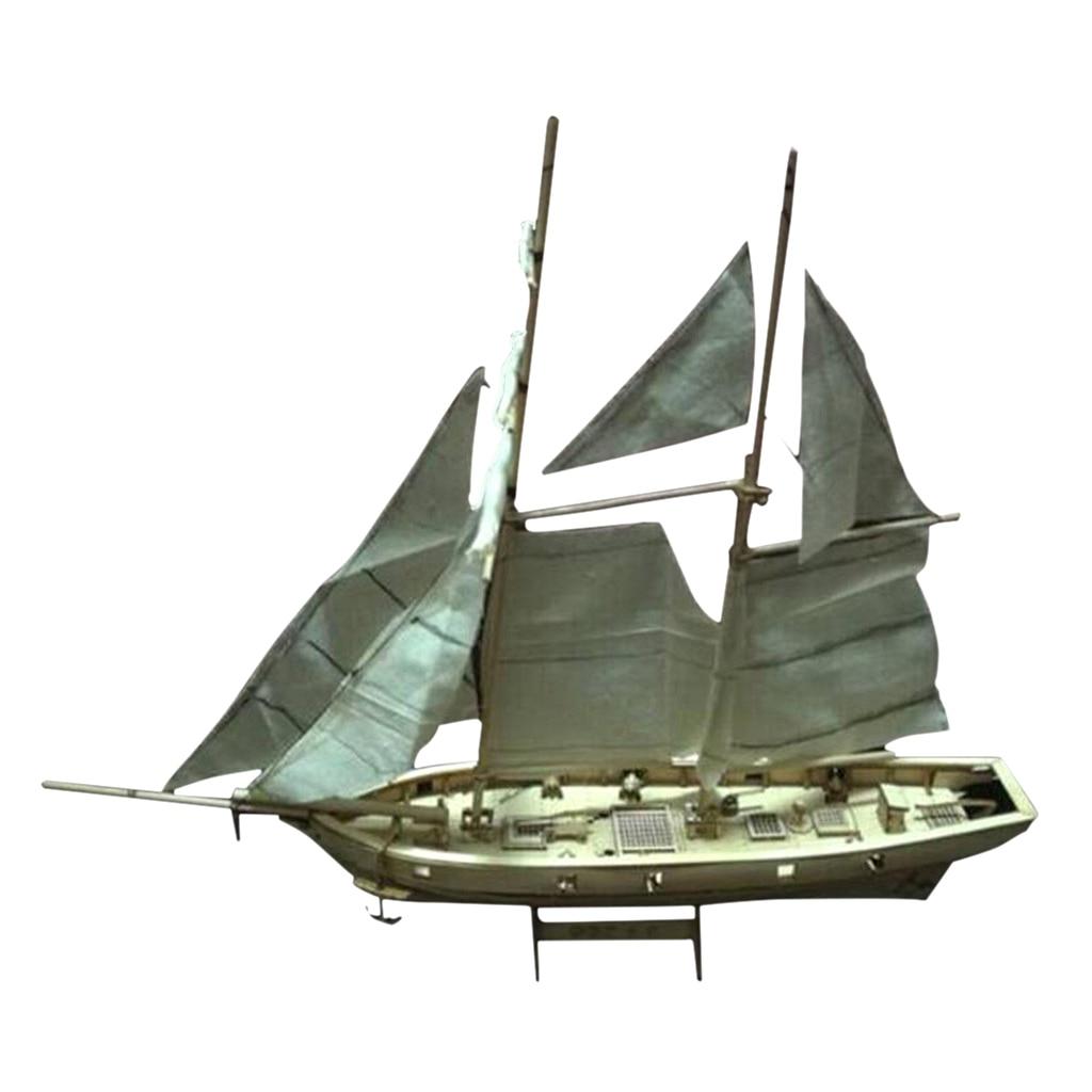Kit de modelo de velero de madera Halcon Baltimore Schooner Puzzle para niños y adultos
