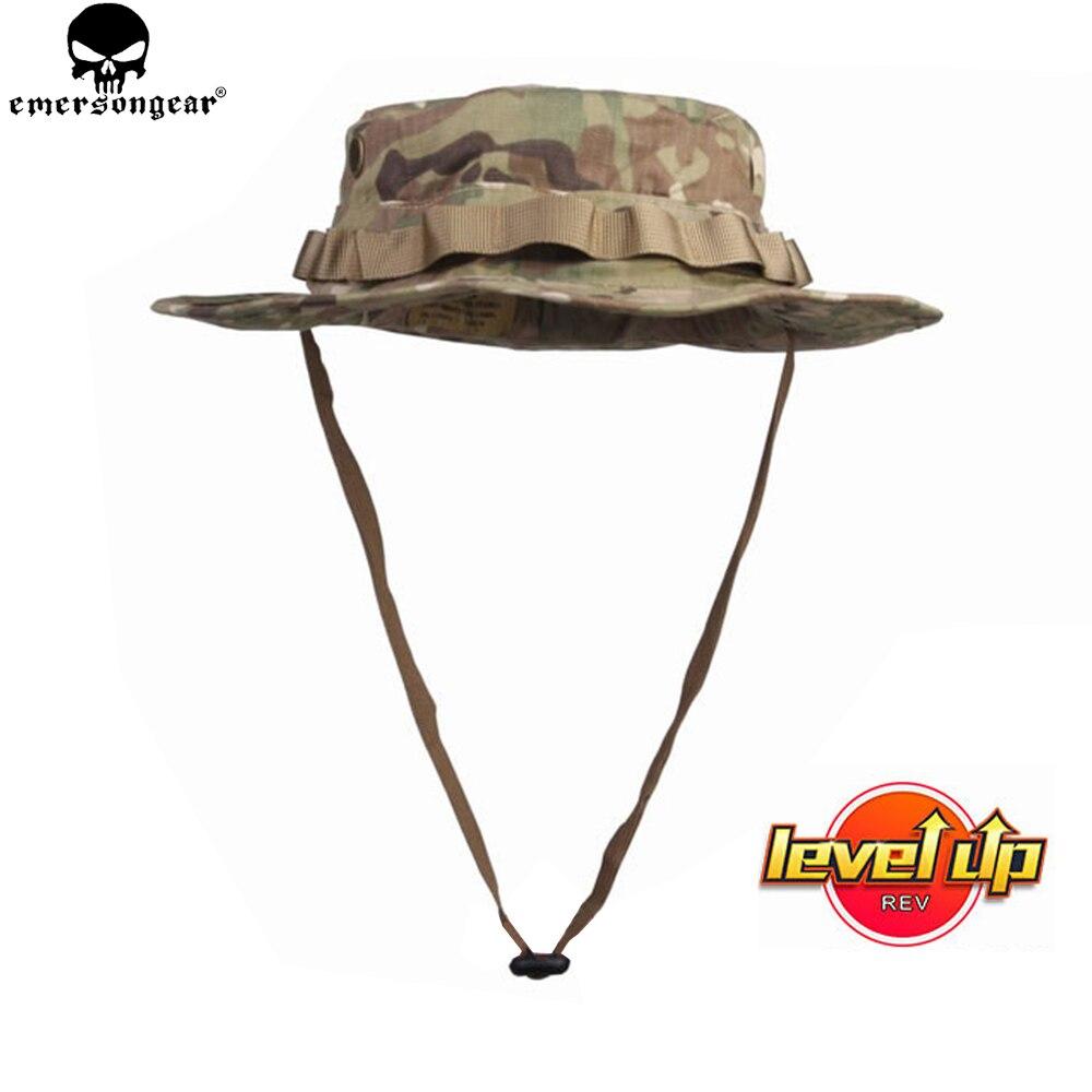 EMERSONGEAR táctico Boonie sombrero de caza del ejército gorro Boonie Airsoft camuflaje caza gorra Sunshine emerson Multicam EM8553