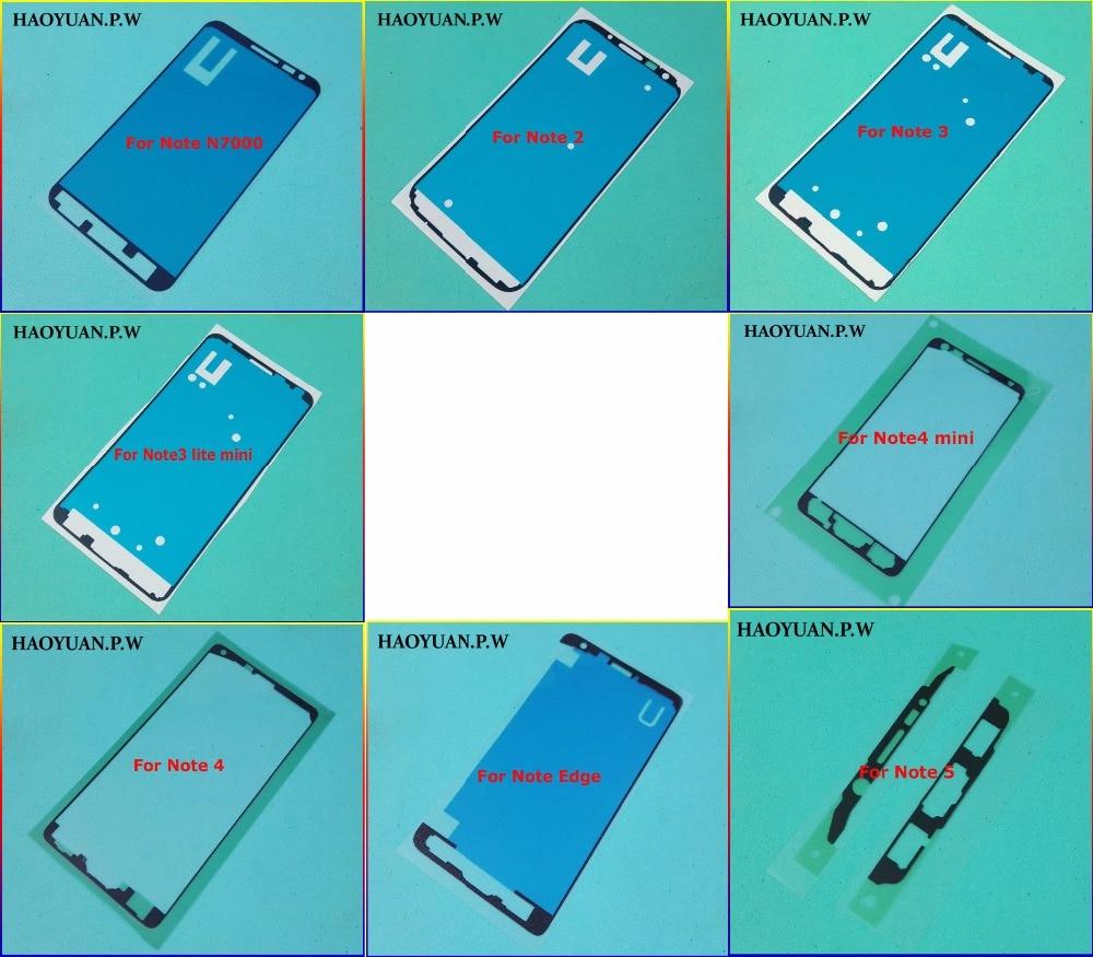 HAOYUA N.P.W наклейка Передняя ЖК-рамка панель Лицевая панель клей для Samsung Galaxy Note 1 2 3 lite 4 mini 5 Edge клейкая лента