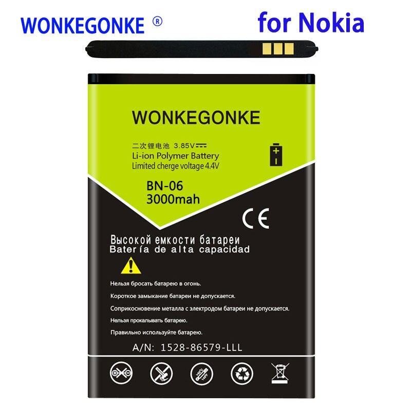WONKEGONKE 3000 mah BN-06 BN06 BN 06 batería para Microsoft para Nokia...