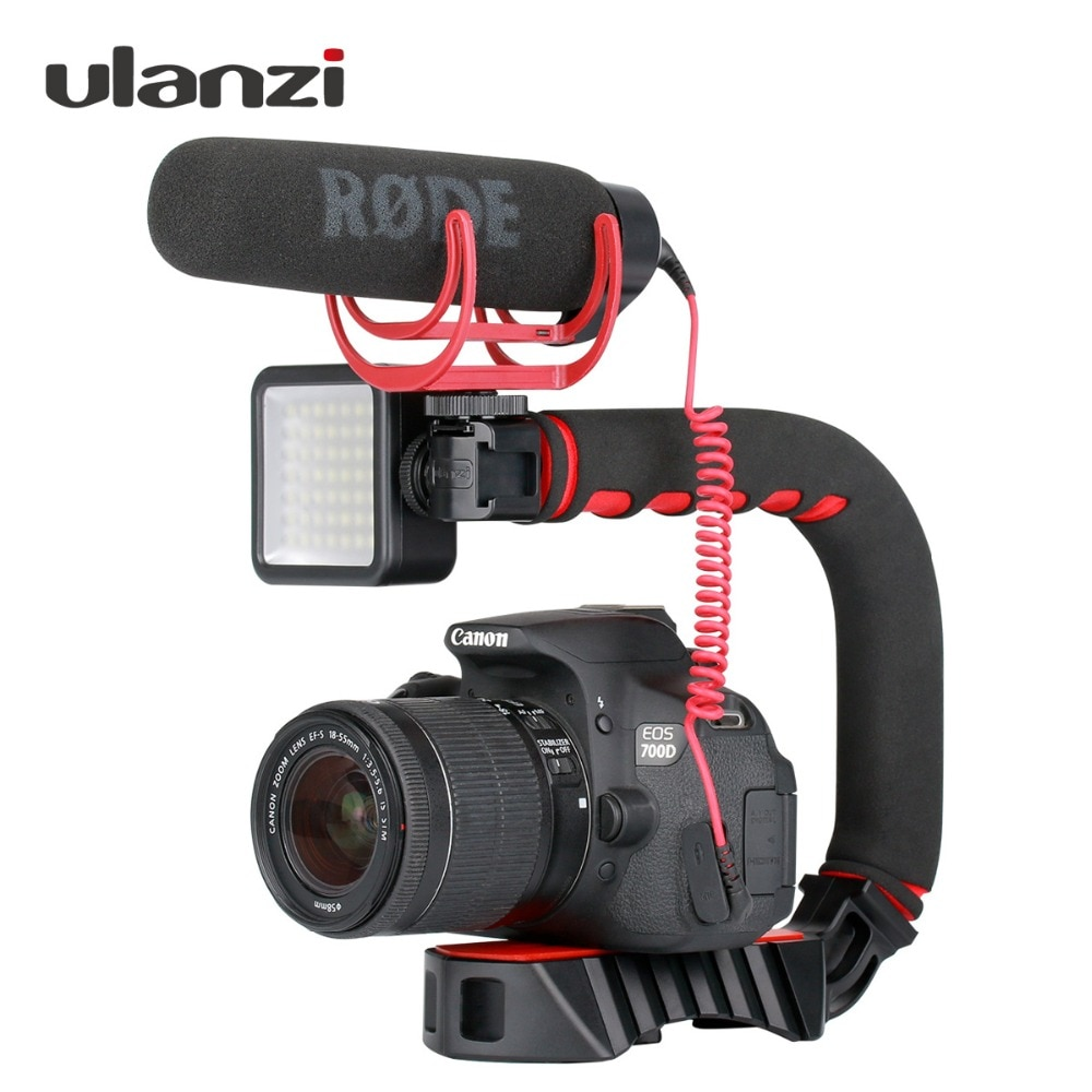 Ulanzi U-Grip Pro Triple de montaje 5D2 estabilizador steadicam manejar vídeo Cámara smartphone plataforma Kit para Nikon Canon iPhone 8X8