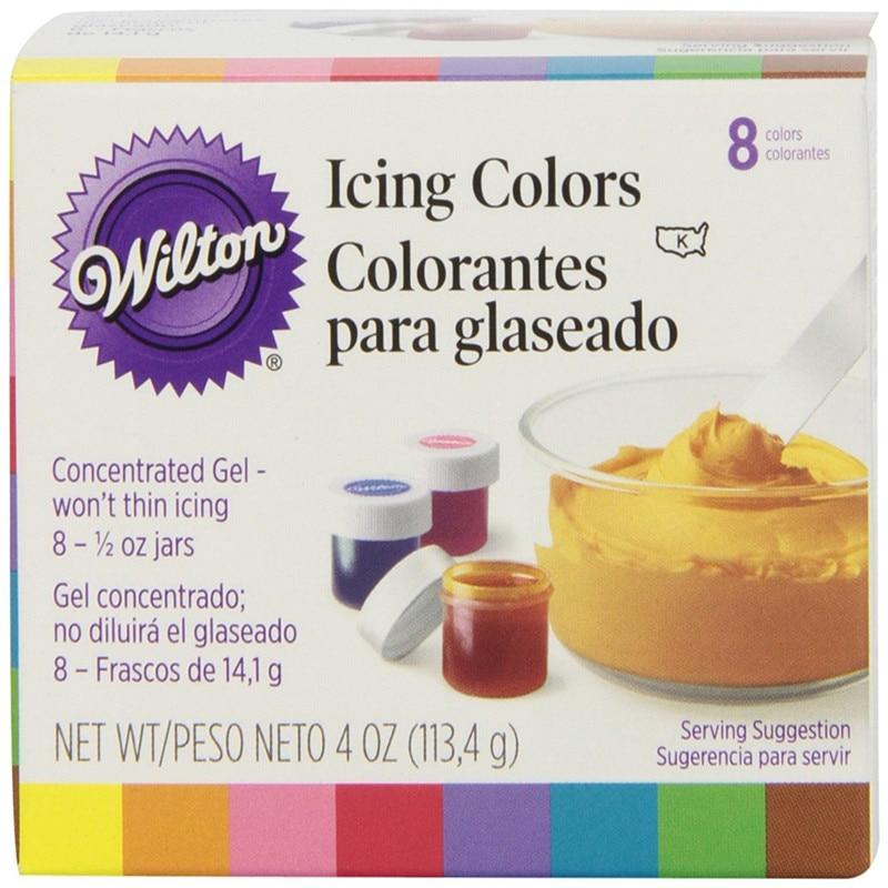 America Wilton-معجون ملون للكيك مع 8 ألوان ، ويلتون السكر ، صبغة الطعام