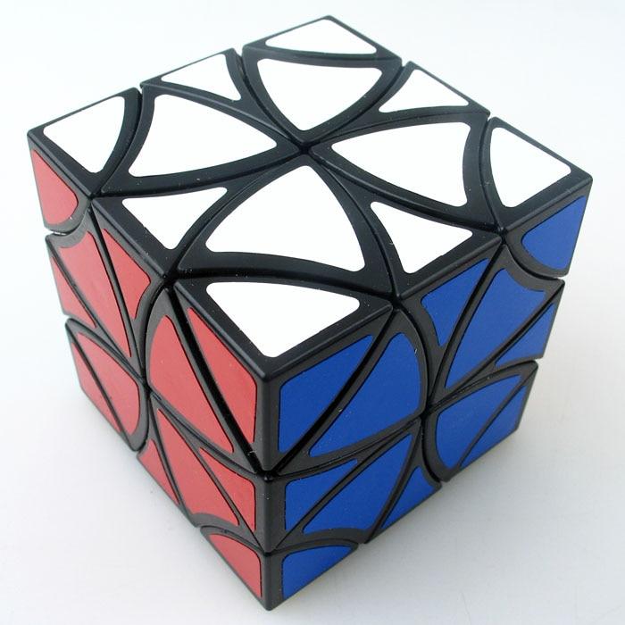 Cube courbé z-cube, Cube magique papillon, douze arbres, pétales de fleurs hélicoptère cube magique jouets éducatifs noirs et blancs