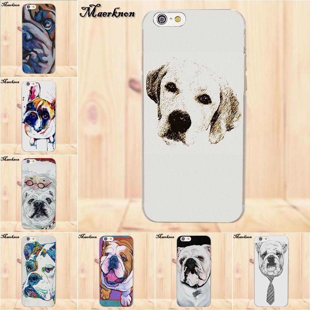 Maerknon TPU Phone Coque French English Bulldog For Apple iPhone 4 4S 5 5C SE 6 6S 7 8 Plus X For LG G4 G5 G6 K4 K7 K8 K10