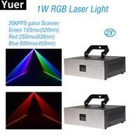 2pcslot 1w rgb laser light dj disco lights dmx 512 sound control laser projector lighting for party club bar stage light
