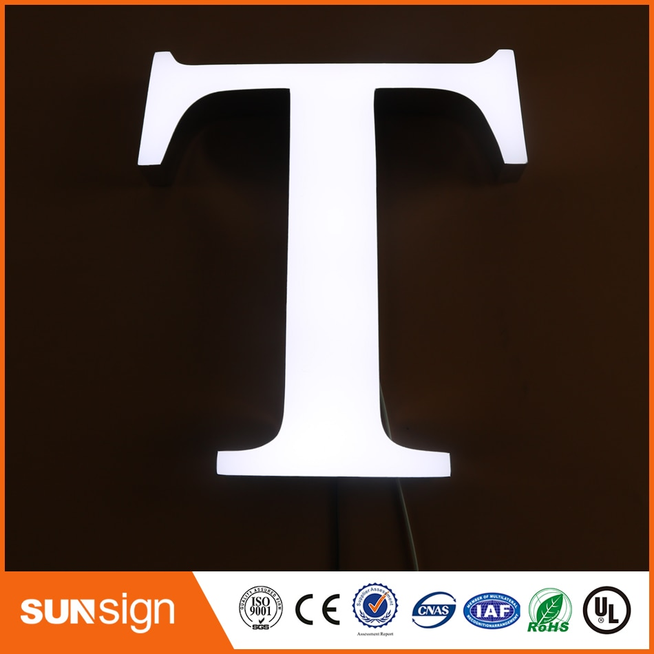 shanghai high bright epoxy resin led channel letter sign недорого