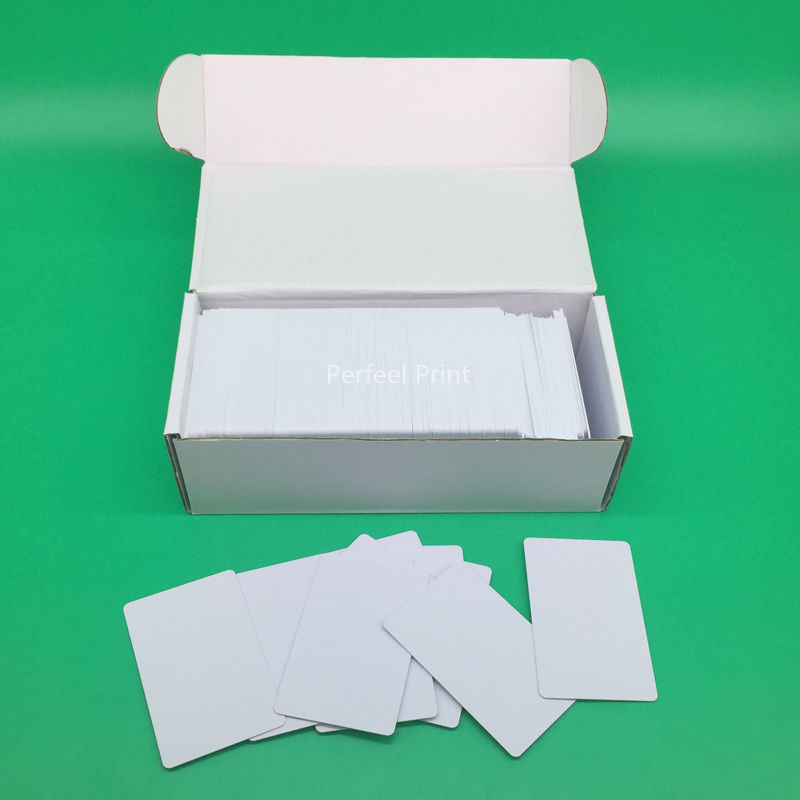 230 قطعة/صندوق النافثة للحبر الجانبين الطباعة فارغة PVC بطاقة الهوية دون رقاقة لإبسون كانون طابعة 85.6*54*0.76 مللي متر