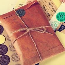 5 pcs/lot Vintage Kraft papier enveloppe Style européen rétro enveloppe pour lettre papier papeterie cadeau bureau fournitures scolaires