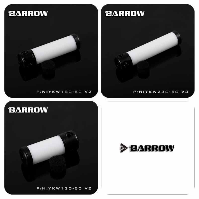 Barrow YKW130-50-V2 YKW180-50-V2 YKW230-50-V2 de depósito (diámetro 50MM TL130mm/180mm/230mm) W cuerpo B tapa tanque enfriador de agua