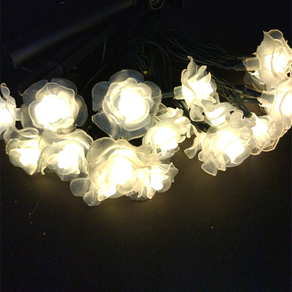 YIYANG-guirnaldas de luces alimentadas por energía Solar, 12m, románticas, para exteriores, vacaciones,...