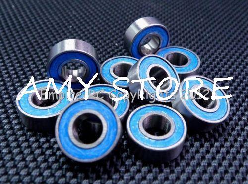 "ABEC-3 (25 pces) R166-2RS 3/16 ""x3/8"" x1/8 ""borracha selada rolamento de esferas r166rs azul"