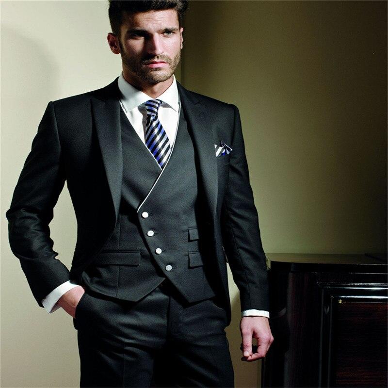 Italiano noivo smoking melhor homem terno casamento padrinho/homem ternos vestido de noivo (jaqueta + calças + colete + gravata) ocidental smoking casamento