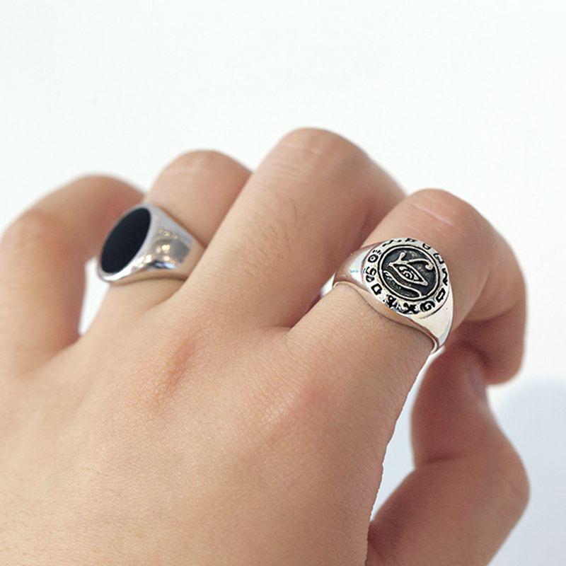 Anillos de ojo plateado de plata esterlina 925 Silvology, anillos de estilo Industrial con imagen gruesa Vintage para mujeres, joyería creativa 2019