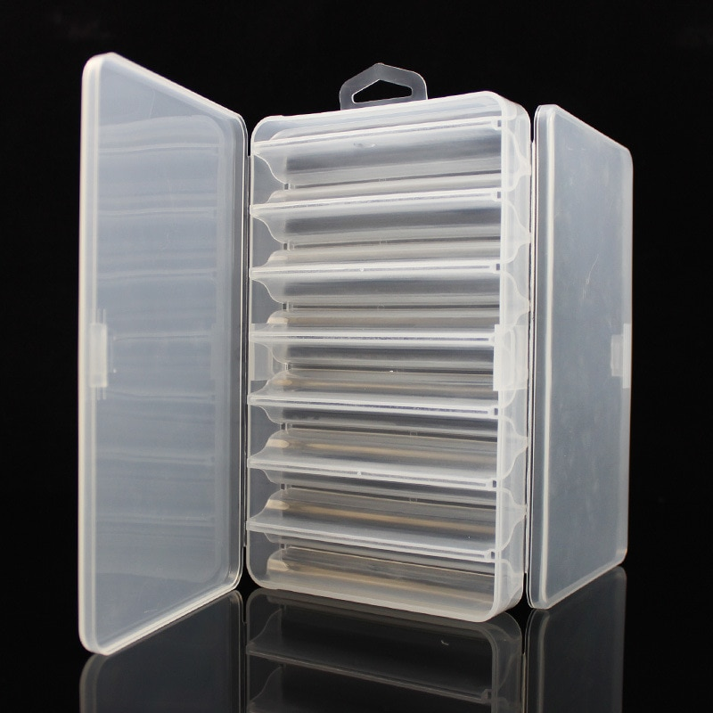 1 Uds 14 compartimentos/Red de doble cara Minnow cebos duros caja de camarones pesca aparejos de pesca caja 21*11,5*3,6 cm