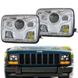 "New car parts 5""x7"" led headlight led truck headlight 4x4 led headlight 5"" X 7"" square led headlight for Jeep Offroad"