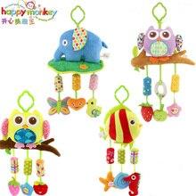 Bébé Animal vent carillons hochet jouets hibou poisson musique lit landau berceau poussette Mobile suspendu poupée en peluche pour bébé jouet éducatif