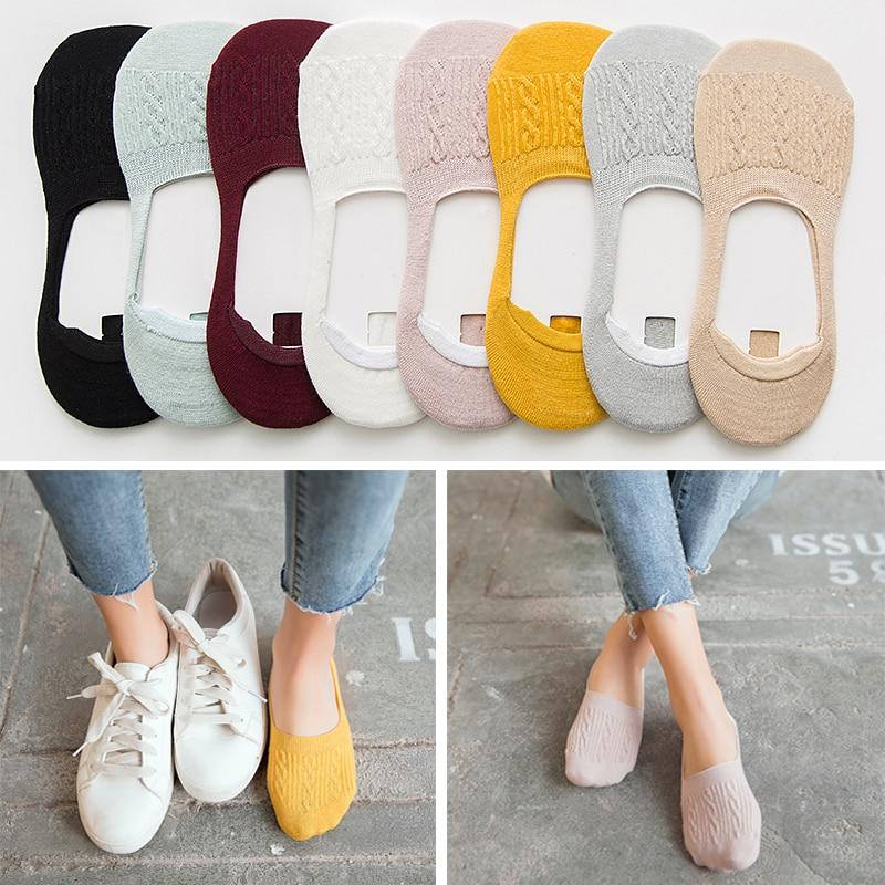 Candy Colors Cotton Women Socks Snowflake Softable Woman Socks Sokken Vrouwen Calcetines Algodon Mujer 5 Pairs