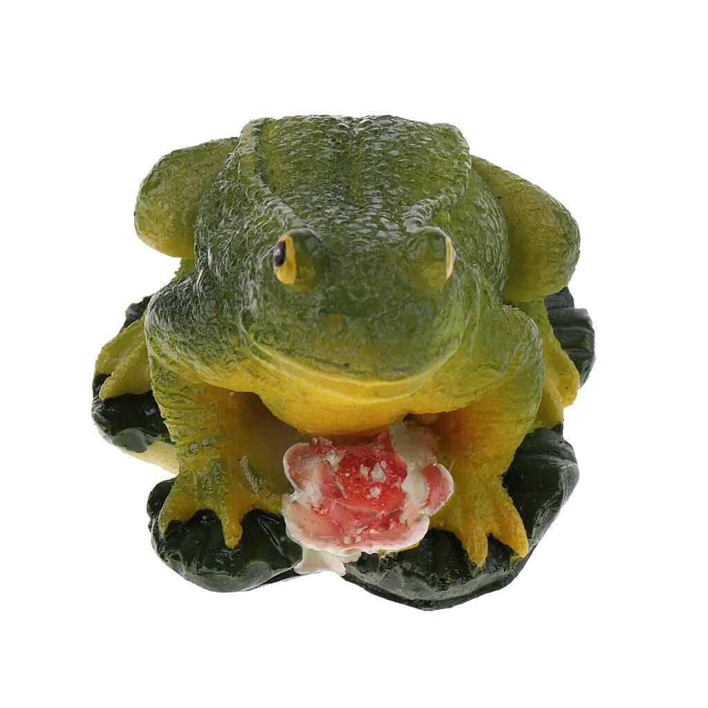 Лучшая миниатюрная скульптура лягушки из смолы, статуя ремесла для домашнего офиса, украшение стола