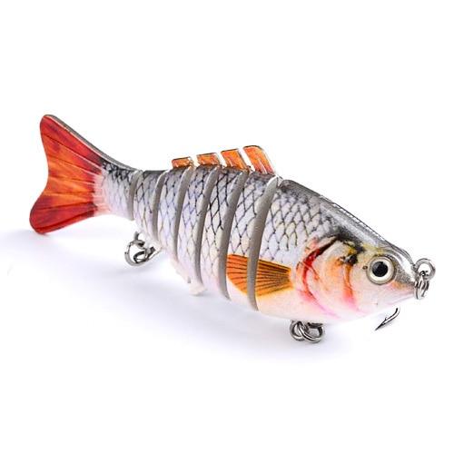 1 pçs yuzi pesca wobblers nadar isca de pesca 6-7 seções isca de pesca 11cm/15.5g 6 # boa qualidade gancho pesca equipamento