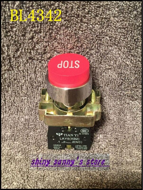 10 قطعة BL4342 XB2-BL4342 1 NC الأحمر وقف تسجيل إبراز مجهار العلامة التجارية جديد