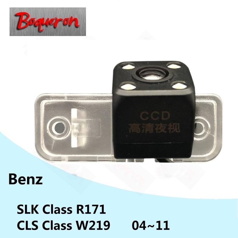 CLS para Mercedes Benz Clase W219 Clase SLK R171 04 ~ 11 HD CCD visión nocturna cámara de respaldo de estacionamiento inverso vista trasera de coche Cámara