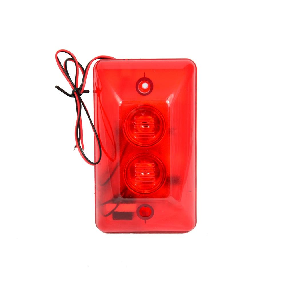 1 pcs cor Vermelha uso Fio Strobe siren Para alarme de segurança anti roubo Siren dentro 120DB dupla alto falante Livre grátis