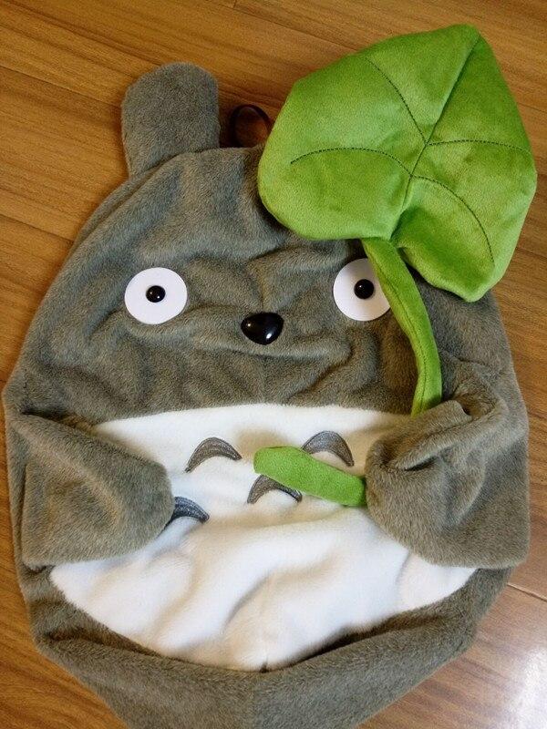 Плюшевая игрушка из кожи, плюшевая игрушка с корпусом, милое мягкое Кукольное пальто Тоторо с листом лотоса, детские игрушки с котом