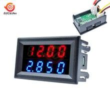 Мини цифровой вольтметр постоянного тока Амперметр детектор Регулируемый DC 200 в 100 в 10A Напряжение Панель измерителя тока источник питания двойной светодиодный дисплей