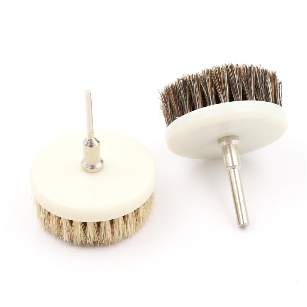 Cepillo de limpieza eléctrico de taladro de 60mm para muebles de madera de cuero c Limpieza de interiores de automóviles limpieza Power Scrub