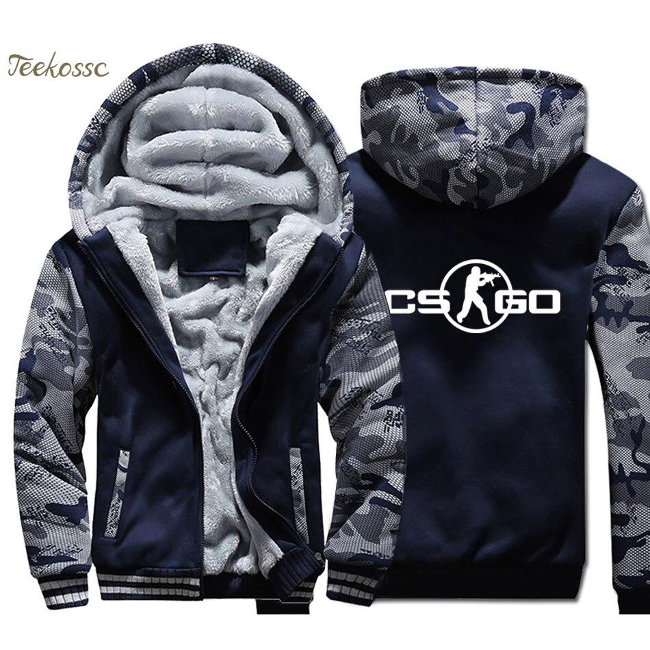 Спортивная Толстовка для мужчин в стиле хип-хоп, брендовая толстовка с капюшоном, пальто 2018, зимняя флисовая Толстая куртка, уличная брендов...