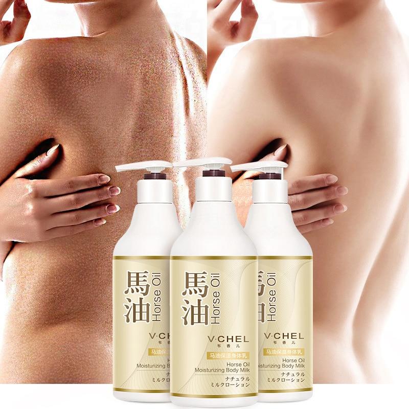 Отбеливающий крем для тела с конским маслом, молочко для ухода за кожей, отбеливающий увлажняющий, против морщин, против сухости