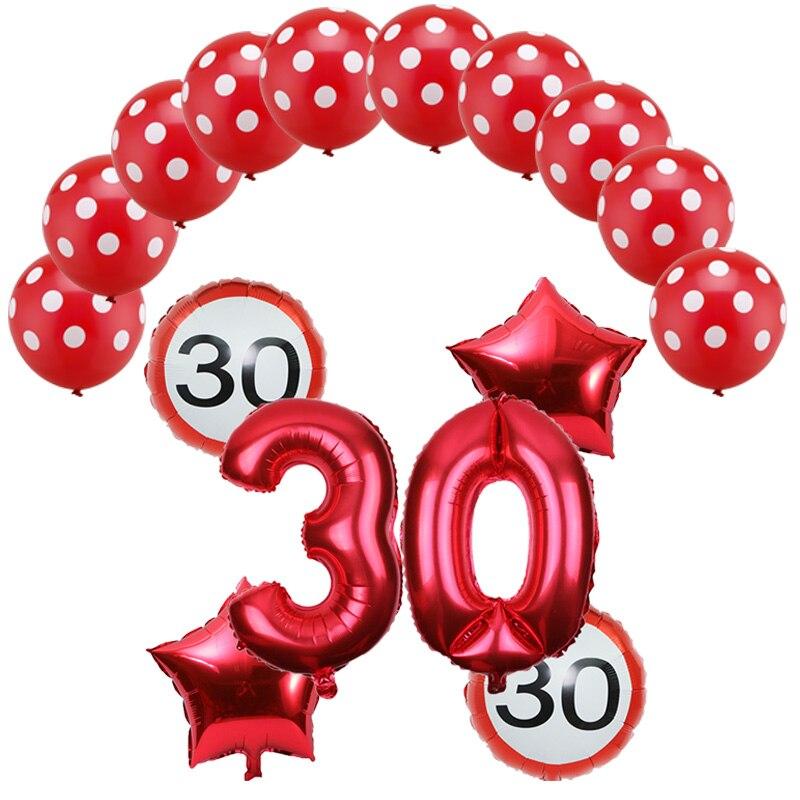 16 teile/satz 32inch anzahl 18 30 40 50 60th Anniversary Tag Ballon globos cumpleanos infantiles geburtstag party decor adul luftballons