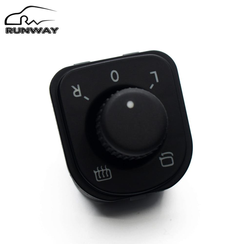 ¡Ventas directas de fábrica! Mando de ajuste espejo interruptor de Control para VW Jetta golf 5 6 Tiguan Passat B6 CC asiento Alhambra 1K0 959 565J