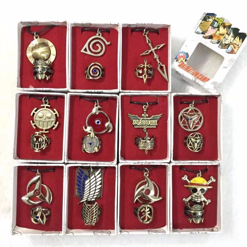 Один кусок Наруто атака на Титанов Kuroshitsuji Fate stay night гинтама LOL модное пирсинг ожерелье аниме ожерелье аксессуары