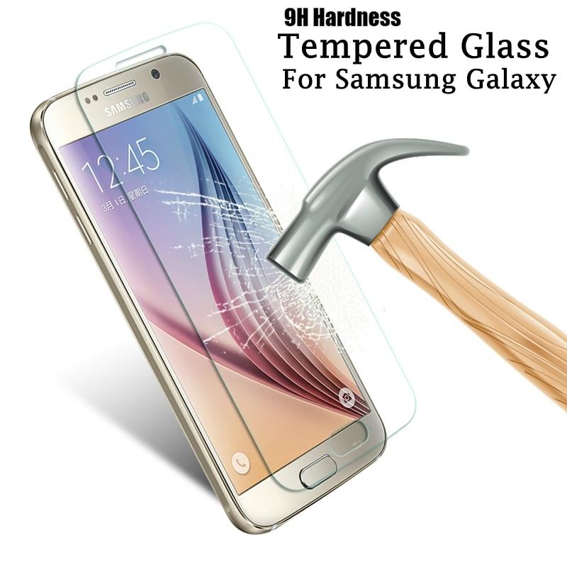 2.5D 9H закаленное стекло для Samsung Galaxy J3 J5 J7 2015 2016 J310 J510 J710 J320 J520 J720 S4 S5 S6 S7 Защитная пленка для экрана HD