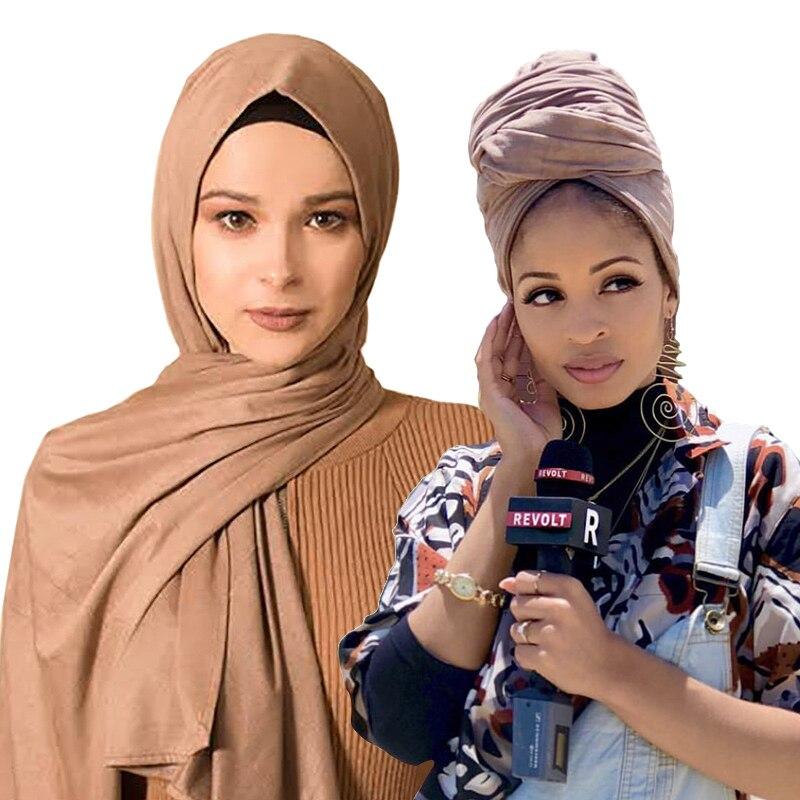 Pañuelo de algodón suave islámico de 85x180 cm para mujer, chal y chales lisos, hijab, turbante, Jersey tipo hijab, bufanda para mujer
