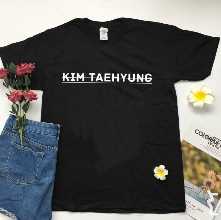 PUDO-XSX KIM TAEHYUNG T camisa Unisex de las mujeres camisa de KPOP HIP HOP Streetwear Tee Befree Vogue estética Grunge T camisa