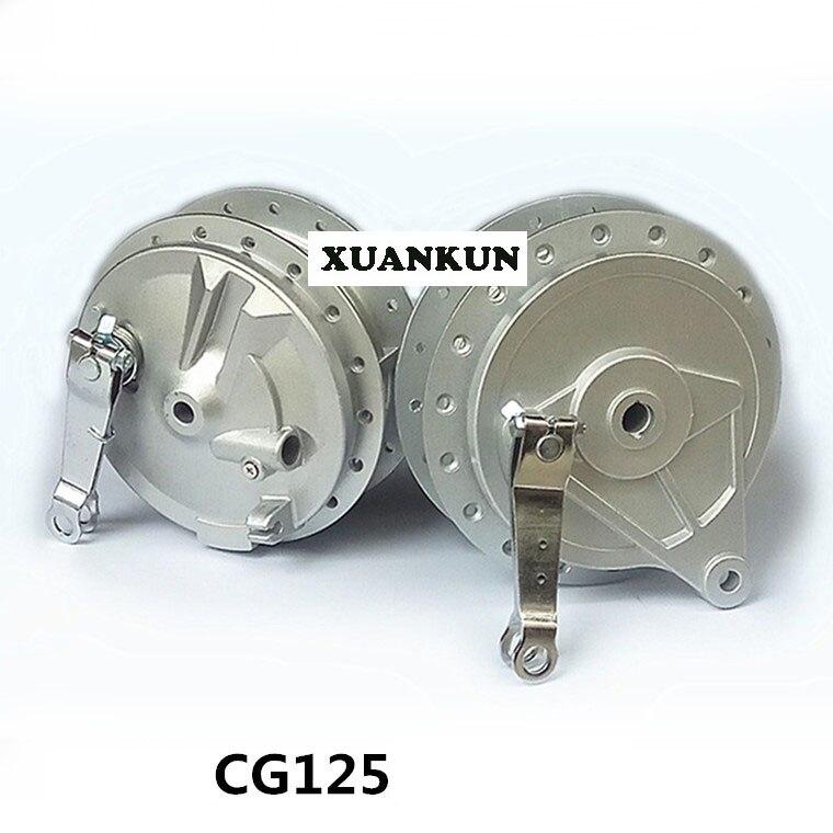 Cg125 motocicleta grande roda dianteira e traseira retro modificado spoke hub roda de freio tambor capa montagem