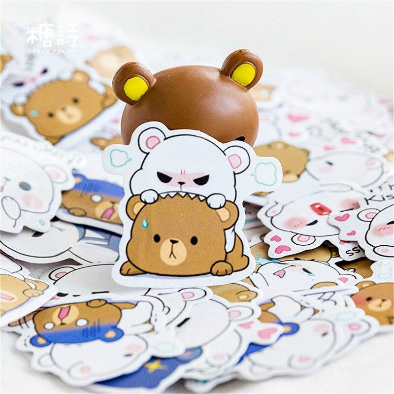Горячая Распродажа, канцелярские наклейки с медведем, дневник, клейкая бумага ручной работы, японский стикер, канцелярские принадлежности для скрапбукинга