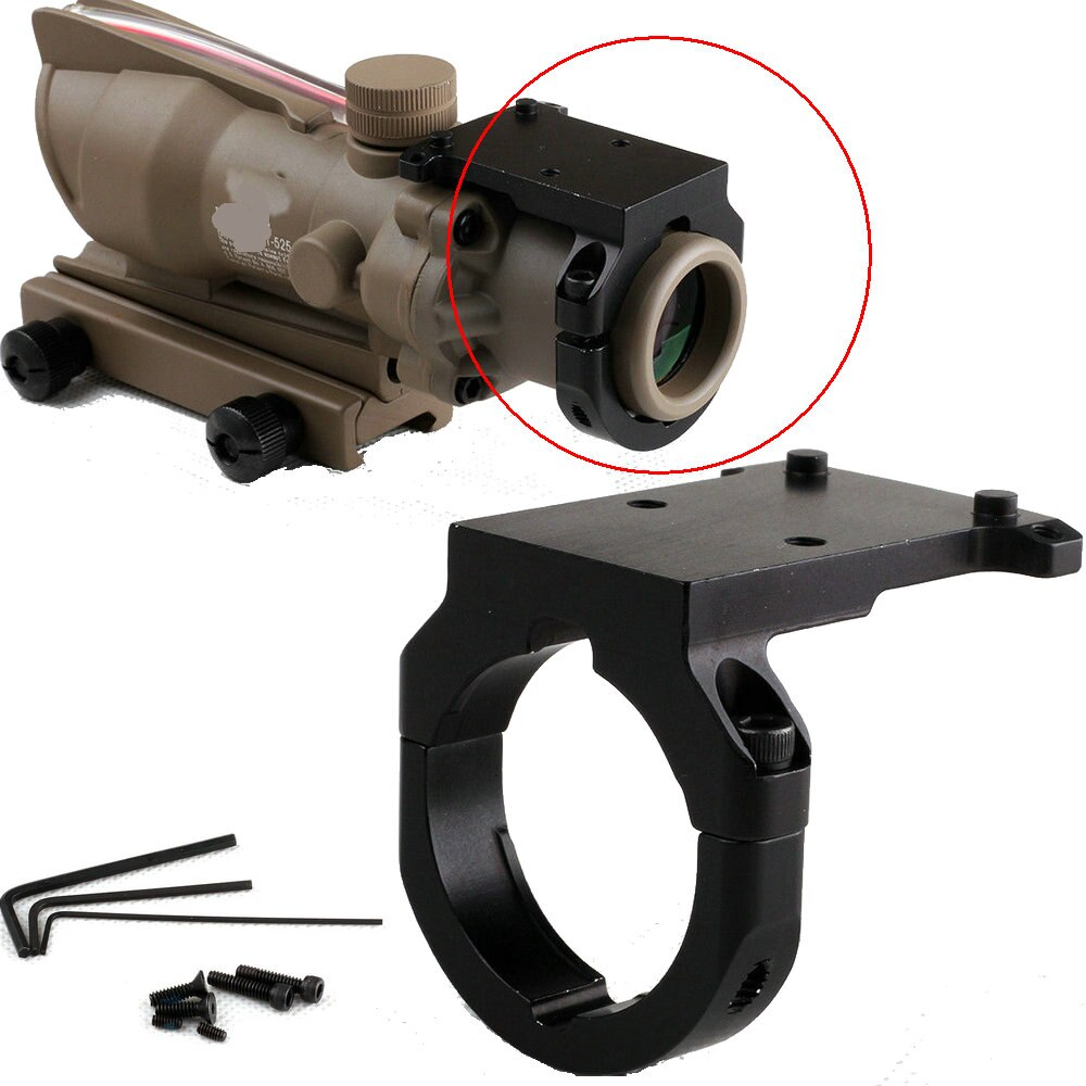 Accesorios caza táctico reforzado miniatura RMR punto rojo reflejo vista Base de montaje RM38 para Trijicon ACOG Riflescope 3.5x 4x